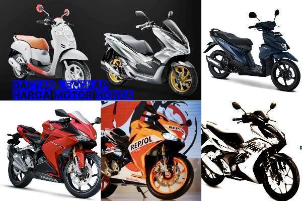 Daftar Harga Motor Honda Lengkap