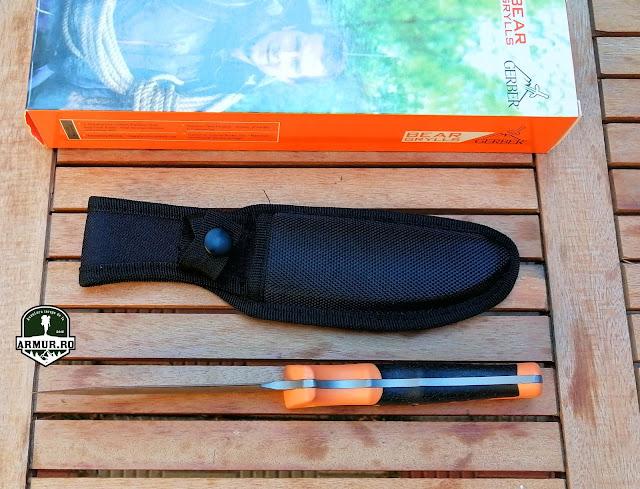 Cutit Bear Grylls Survival Guide Knife ghid de supravietuire full tang