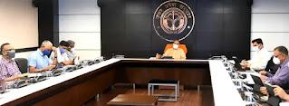 राज्य सरकार की प्रभावी रणनीति और निरन्तर प्रयासों से प्रदेश में कोविड संक्रमण नियंत्रित स्थिति में : मुख्यमंत्री योगी With the effective strategy and continuous efforts of the state government the Covid infection in the state is in a controlled condition CM Yogi
