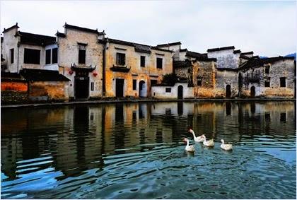 หมู่บ้านหงชุน (Hongcun Ancient Village)