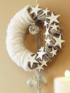 ghirlanda natalizia fai da te con filo di feltro