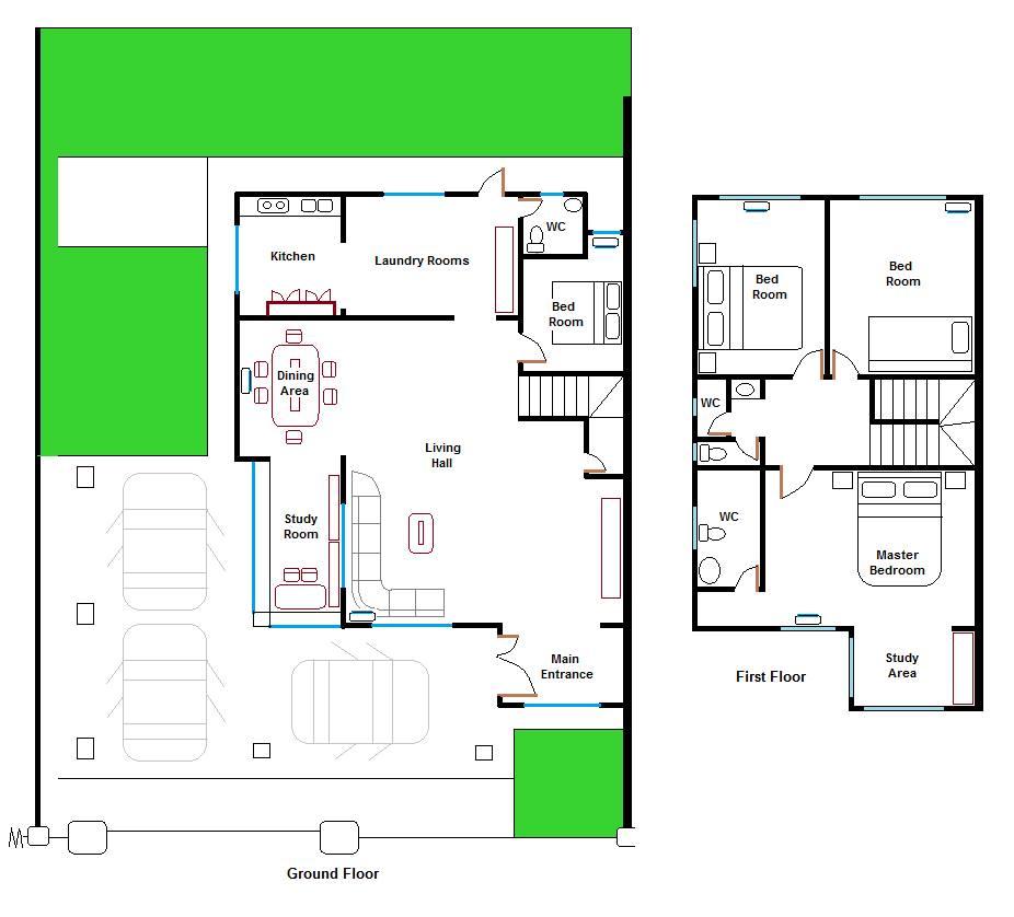 Permyjaya Miri Double Storey Semi Detached House selling RM538000 – Double Storey Semi Detached House Floor Plan