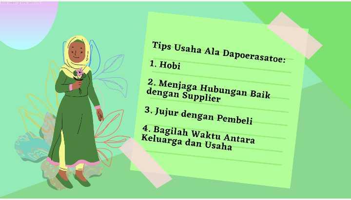 Tips Usaha Dapoerasatoe