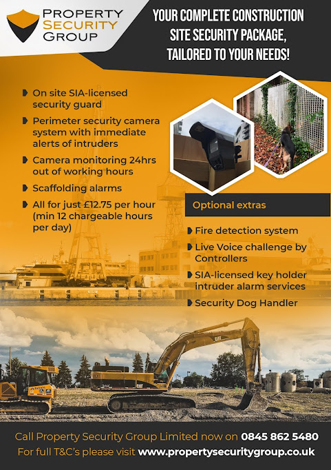 Comprehensive construction site security package offers the best means of securing a construction building or redevelopment site