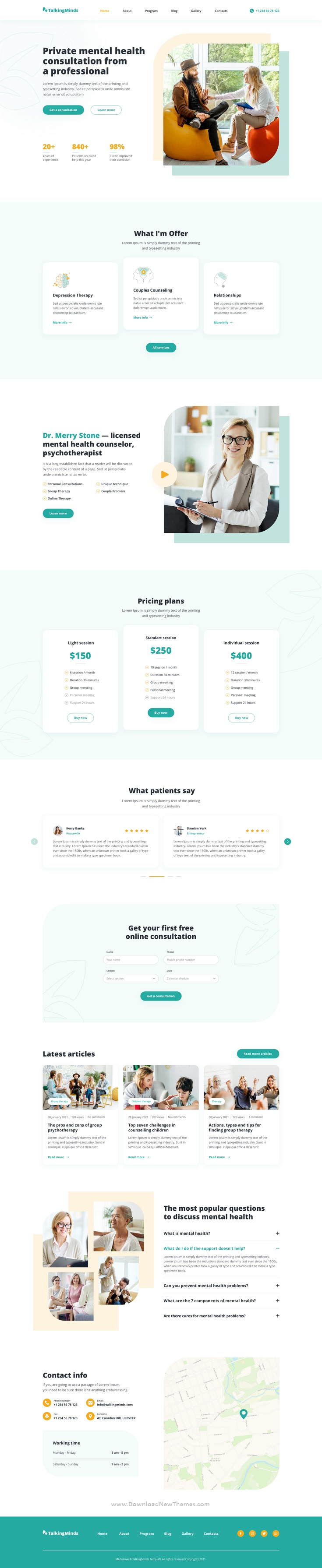Psychotherapist Template for Sketch