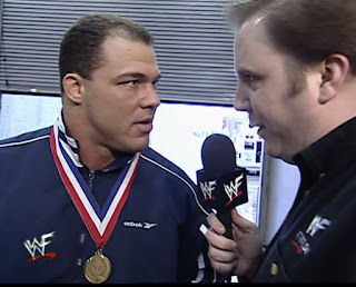 WWE / WWF No Way Out 2001 - Kevin Kelly interviews The Rock