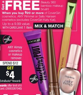 62fc2ad472f or Makeup Removers – PRICES VARY BUY 2. Almay One Coat Thickening Mascara-$8.29.  Receive $4.00 ECB Total=$6.29 each WYB/2