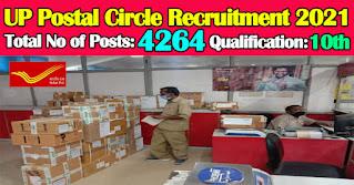 UP Postal Circle Recruitment 2021 4264 GDS Posts