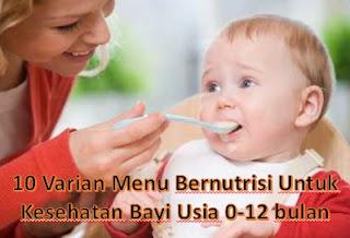Varian Menu Bernutrisi Untuk Kesehatan Bayi Usia 0-12 bulan