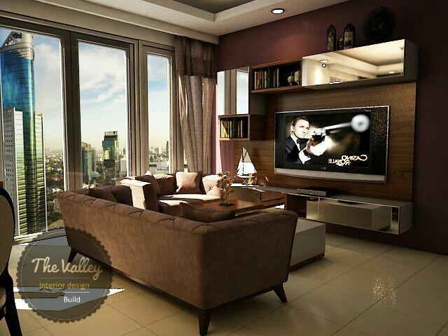 Desain Interior Ruang Keluarga Apartemen - The Valley Interior Design