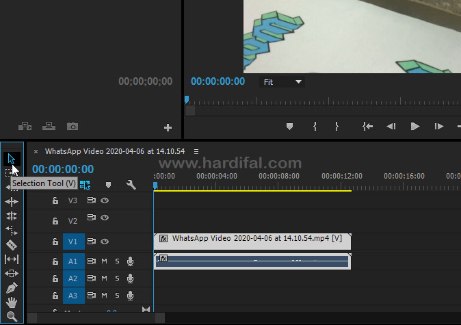 Drag video pada timeline adobe premiere pro cc