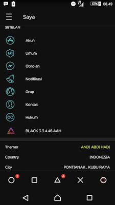 Download BBM Mod Black Style Apk 3.3.6.51 Update Terbaru