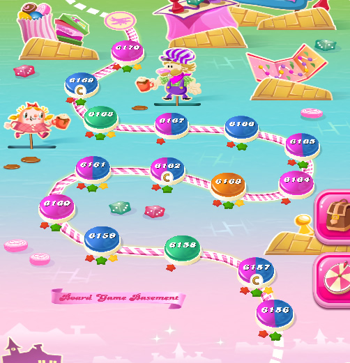 Candy Crush Saga level 6156-6170