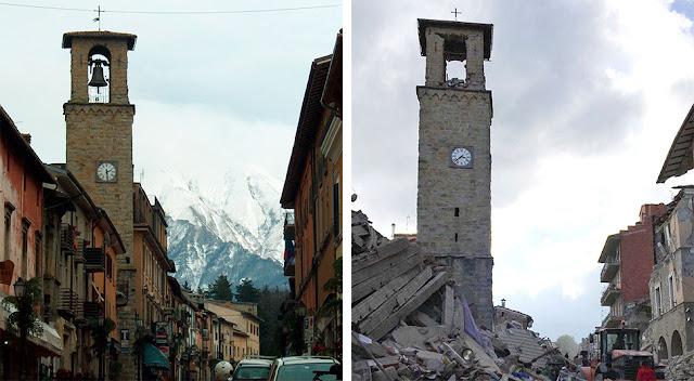 Землятресение в Италии: фото