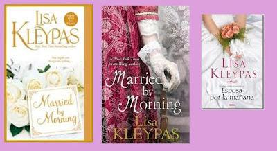 portadas del libro romántico histórico Esposa por la mañana, de Lisa Kleypas