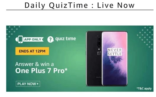 Amazon Quiz 16th February, Amazon one plus 7 pro quiz