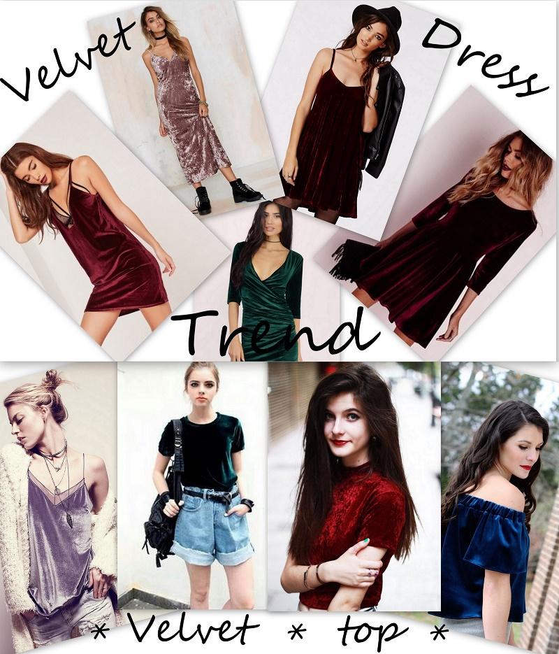 velvet trend outfit