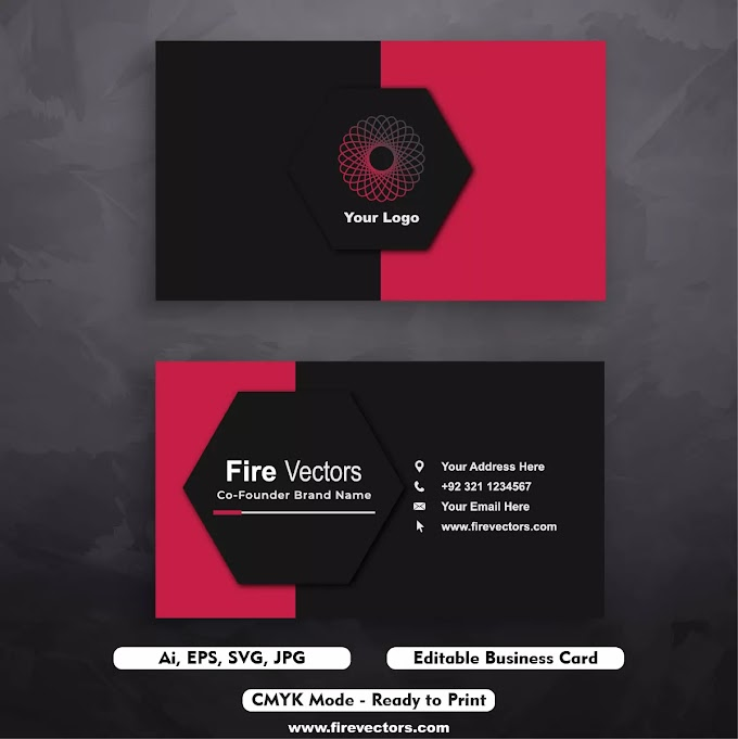Business Card Template Illustrator Free Download