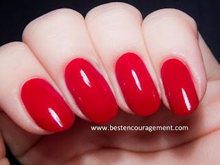 nice red nail arts