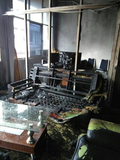 Kantor Bupati Musi Rawas Terbakar