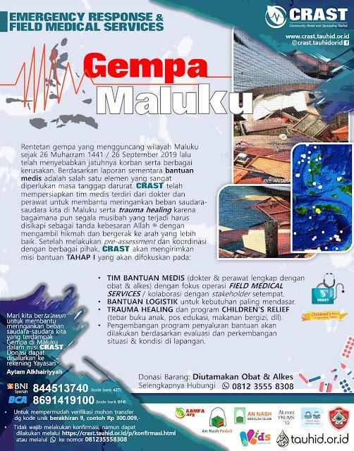 Emergency Response Gempa Maluku