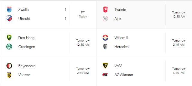 Jadwal Liga Belanda