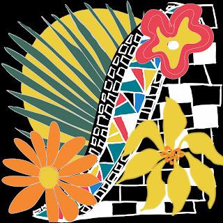 Mosaic I - Flowers and mosaics