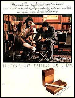 propaganda cigarros anos 70; oswaldo hernandez