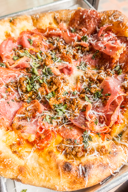 The Meats Pizza from The Stillery in Downtown Nashville, TN