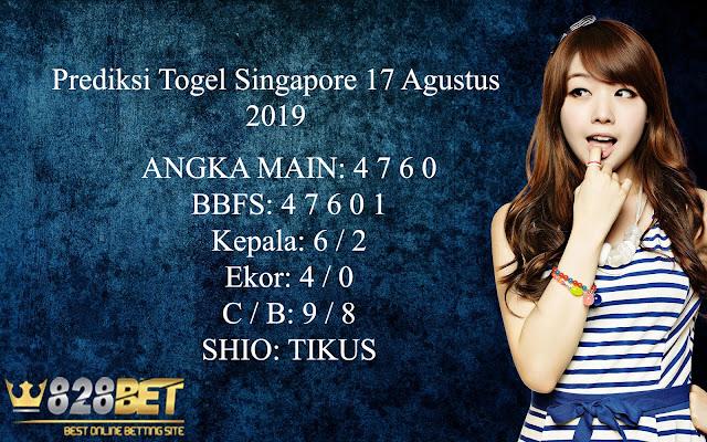 Prediksi Togel Singapore 17 Agustus 2019