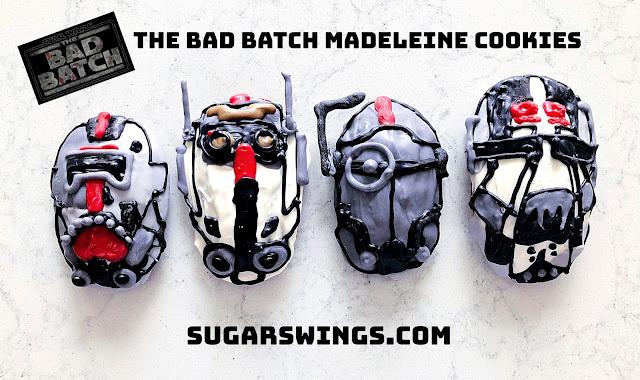 Star Wars Bad Batch madeleine cookies