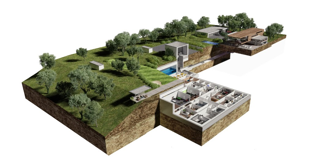 For sale the massive underground self sustaining for Building a defensible home