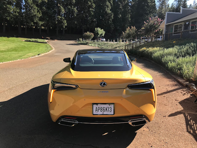 Rear view of 2020 Lexus LC 500h
