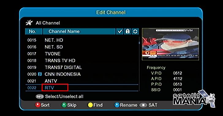 Cara Merubah/Edit Nama Channel Di Receiver