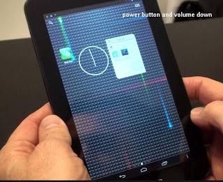 Cara Screenshot Lenovo Ideatab a3000