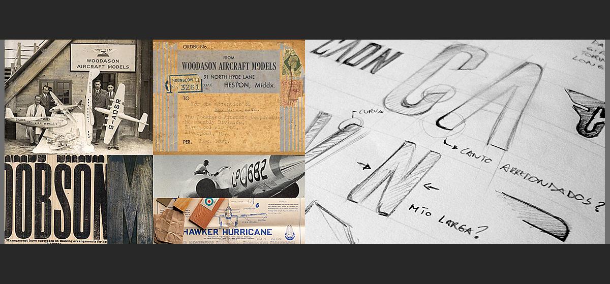 AILERONS, tipografía inspirada en los aviones de los años 40