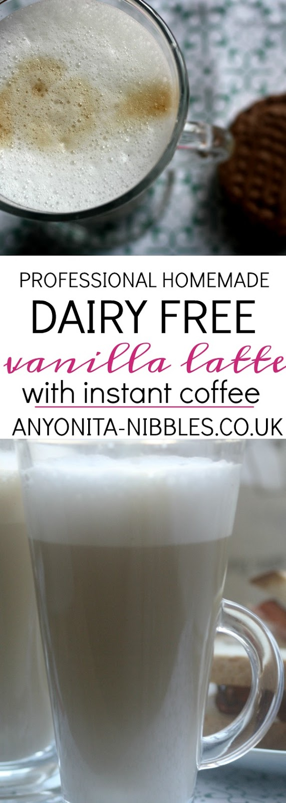 Professional Homemade Dairy Free Vanilla Latte with Instant Coffee