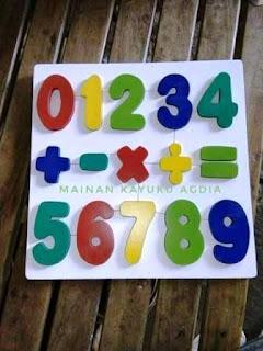 Chunky Puzzle Angka PAUD TK
