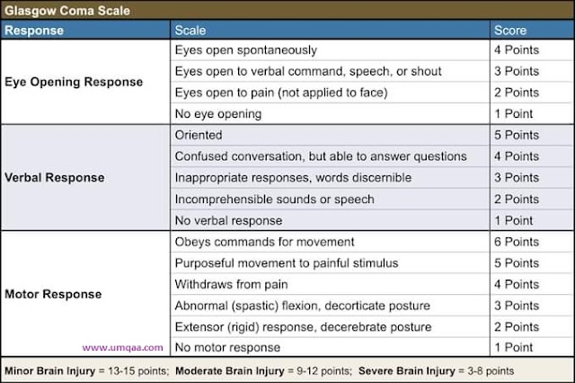 How to assess the Glasgow coma scale(GCS) clinical?
