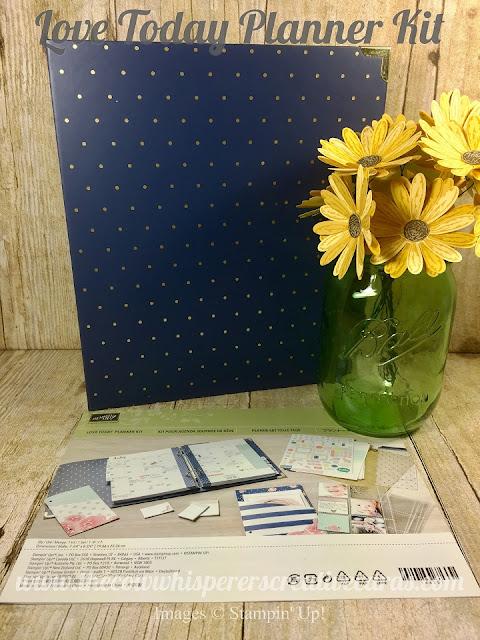 Love Today Planner Kit, Planner, Stampin UP, Stamp, Ink, September, Fall, Facebook Live