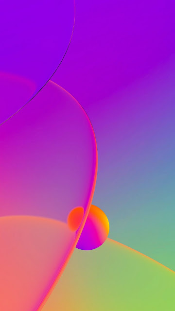 Iphone free colorful bubbles wallpaper