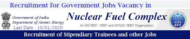 Government Jobs in NFC Hyderabad