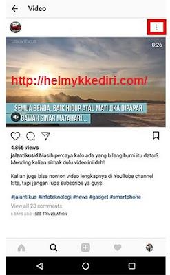 Cara download video di instagram