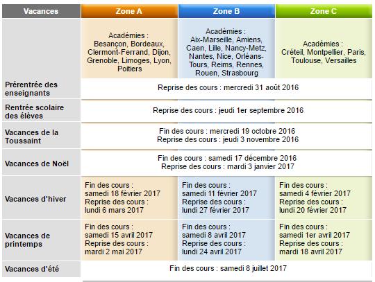 PDFCalendrier scolaire 2017 2017 Commission scolaire de la Capitale