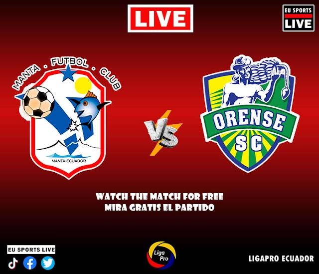 EN VIVO | Manta vs. Orense, Fecha 6 de la Segunda Etapa de la LigaPro | Ver el partido gratis