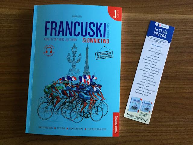"""Recenzje #155 - """"Francuski w tłumaczeniach słownictwo część 1"""" - okładka książki pt. """"Francuski w tłumaczeniach część 1"""" - Francuski przy kawie"""