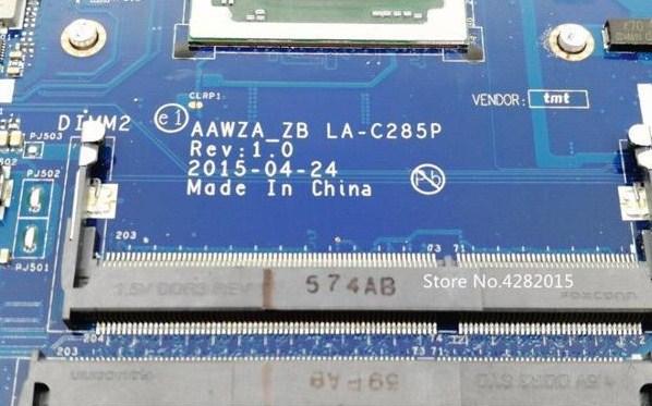 LA-C285P Rev 1.0 Lenovo ideapad 500-15ACZ AAWZA ZB Bios