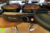 Essen erhitzen: Andrew James – Traditioneller Raclette Grill für 8 Personen mit thermostatischer Hitzekontrolle – Inklusive 8 Raclette-Spachteln – 2 Jahre Garantie