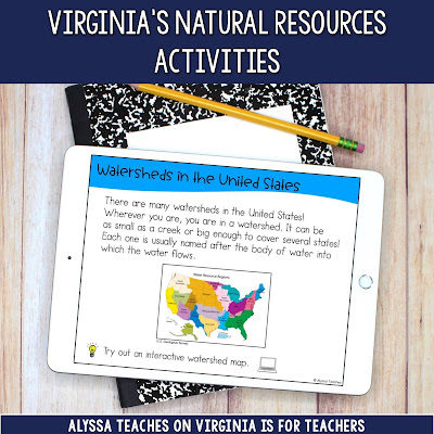 Using digital activities are great ways to keep students engaged if you want to incorporate technology into your unit on natural resources!