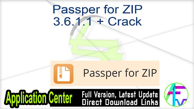 Passper for ZIP 3.6.1.1 + Crack